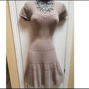 BCBG MaxAzria Tan Knitted Dress